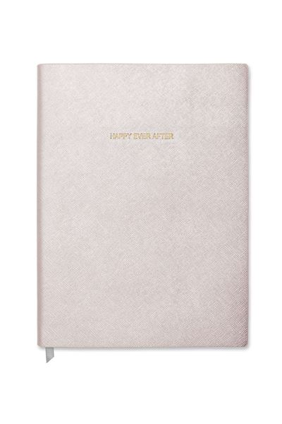 Picture of Katie Loxton Happy Ever After Large Notebook Metallic White
