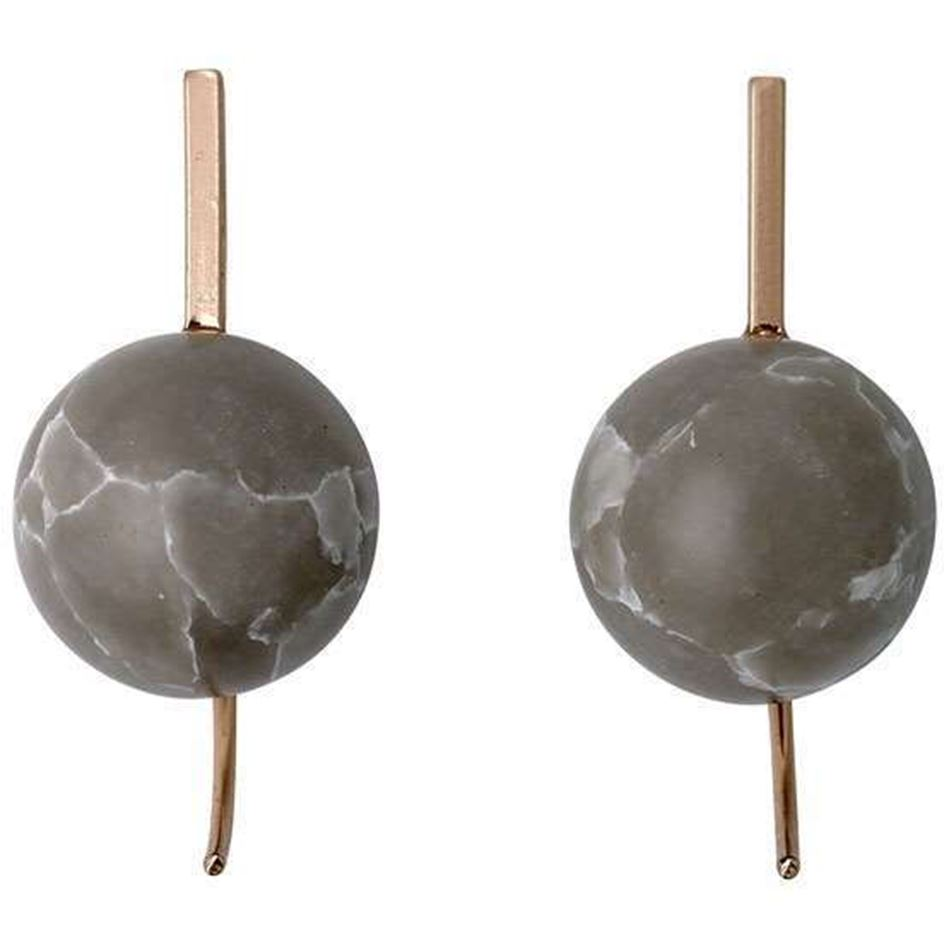 Picture of Pilgrim Rose Gold Plated Marble Earrings