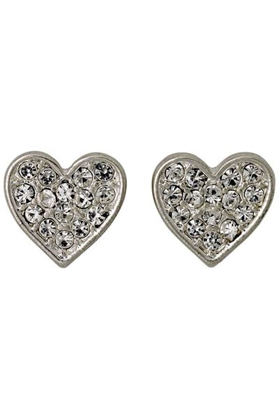 Picture of Pilgrim Lily Silver Plated Heart Earrings
