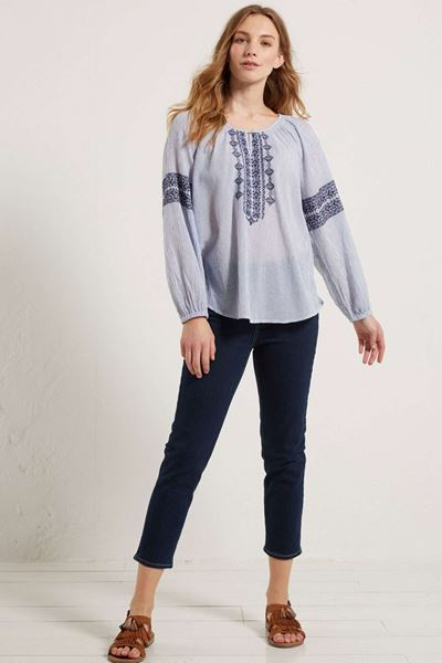 Picture of White Stuff Straight crop jean