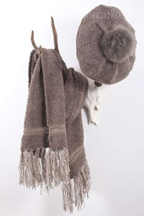 Picture of Samantha Holmes Alpaca Boucle Tassle Scarf
