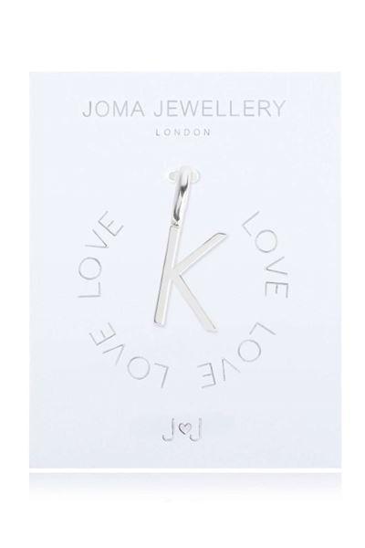 Picture of Joma Jewellery Alphabet Charm - K