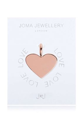Picture of Joma Jewellery Alphabet Charm - Flat Heart