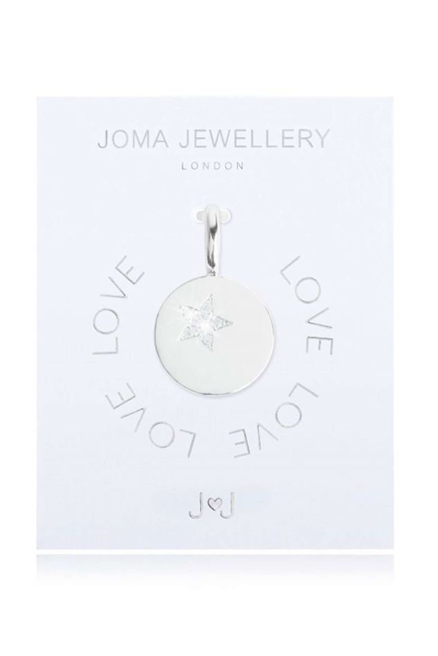 Picture of Joma Jewellery Alphabet Charm - Star Disc