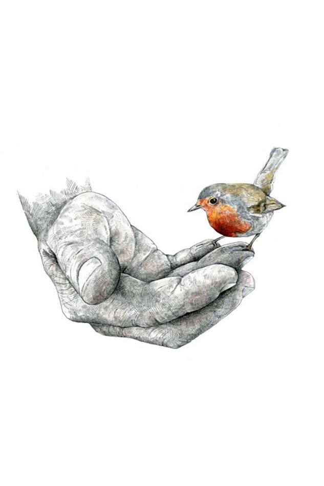 Picture of Hannah Longmuir Print - The Gardener and the Robin