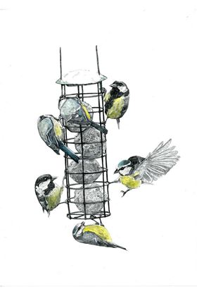 Picture of Hannah Longmuir Card - The Bird Feeder