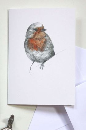 Picture of Hannah Longmuir Card - Robin Red Breast