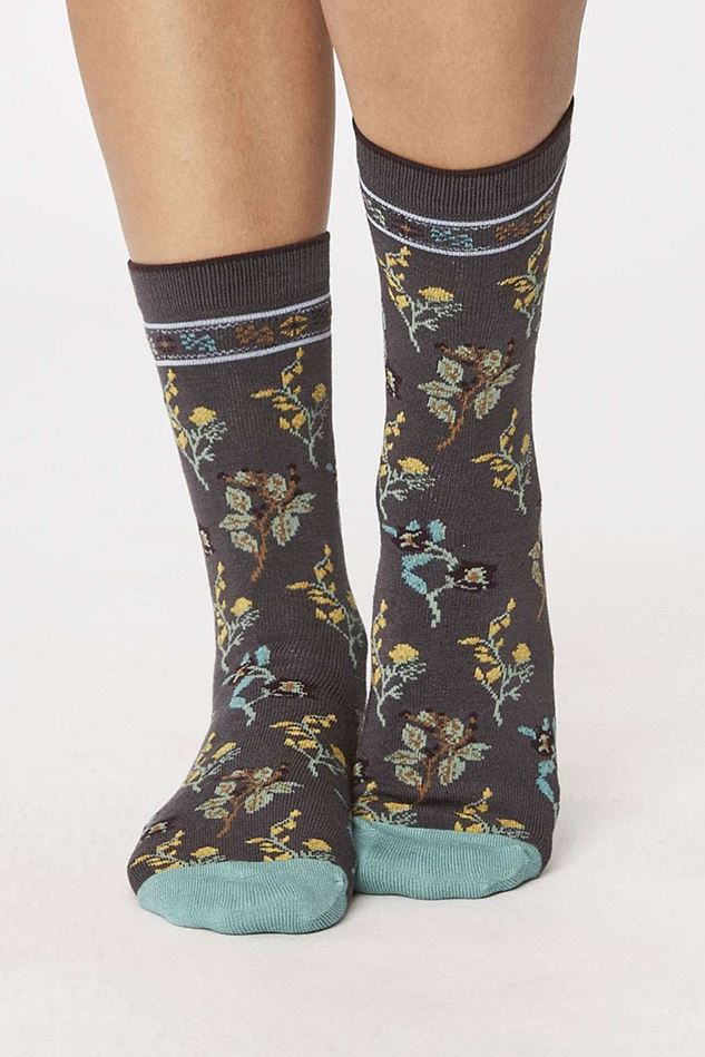Picture of Thought Astrid Floral Bamboo Socks