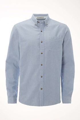 Picture of White Stuff Men's Pacific Oxford Stripe LS Shirt