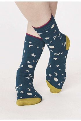 Picture of Thought Georgia Moon and Star Socks