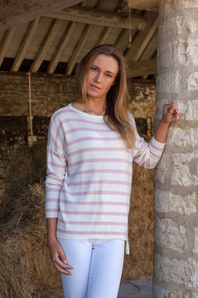 Picture of Luella Breton Stripe  Cashmere Stripe Jumper