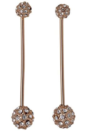 Picture of PILGRIM CARLYN ROSE GOLD PLATED CRYSTAL EARRINGS