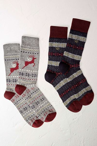 Picture of White Stuff Stag Wool Socks 2 Pack