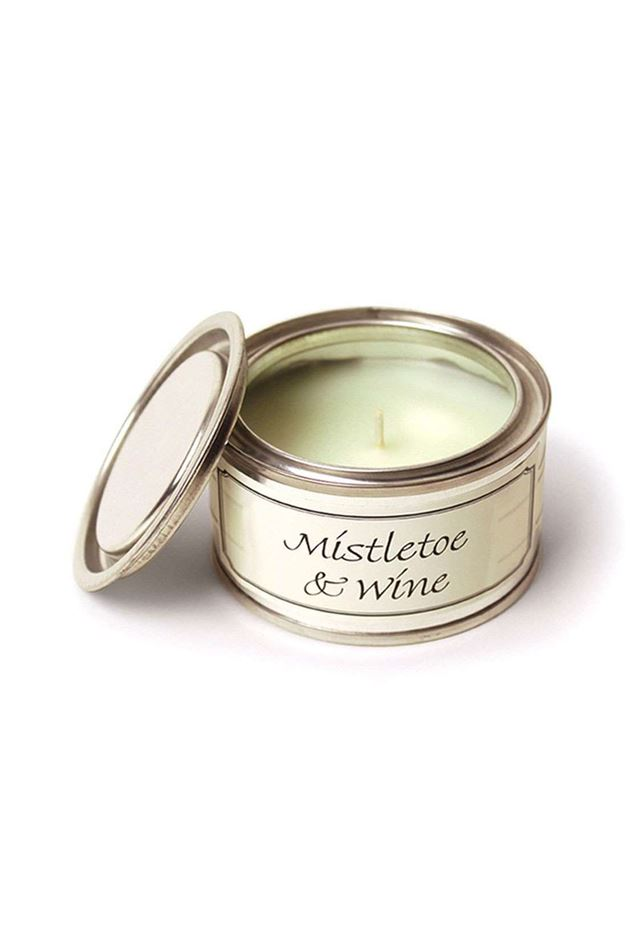 Picture of Pintail Mistletoe & WIne Filled Tin Candle