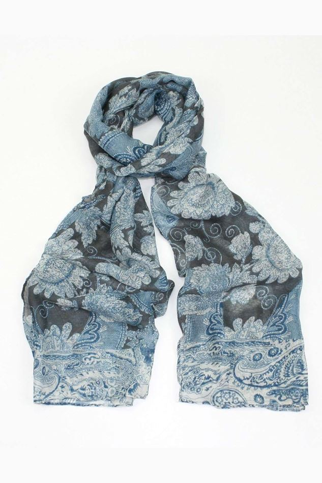 Picture of Poppy Paisley Print Scarf