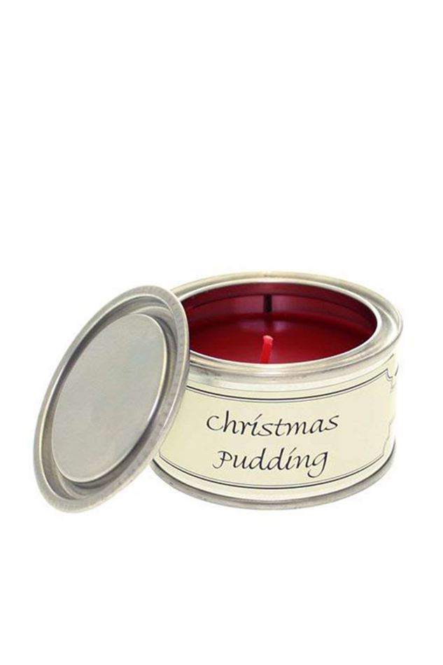 Picture of Pintail Christmas Pudding Filled Tin Candle