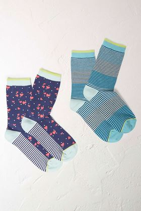 Picture of White Stuff Mini Heart Socks 2 Pack