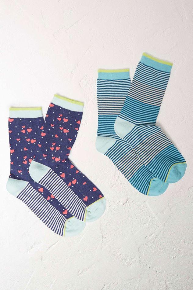 Picture of White Stuff Mini Heart Socks 2 Pack