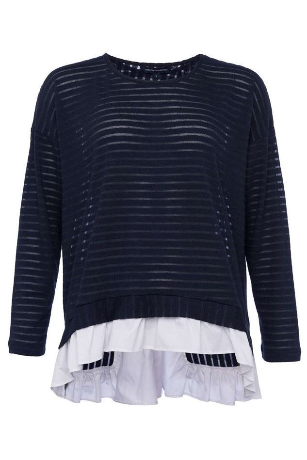 Picture of French Connection Beka Sheer Jersey Top