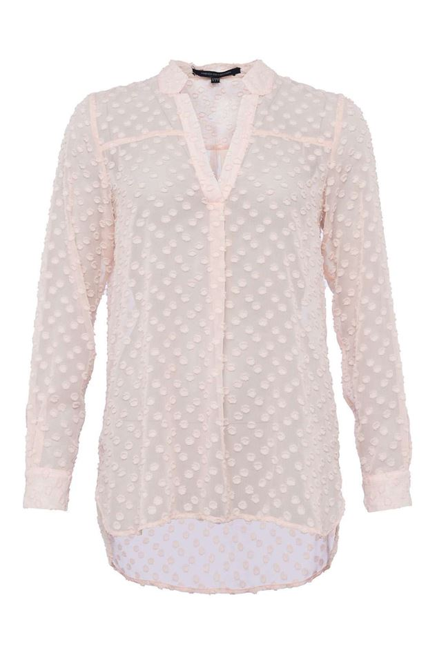 Picture of French Connection Lucy Sheer Pop Over Shirt