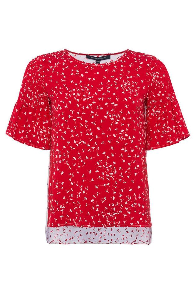 Picture of French Connection Komo Crepe Round Neck Top
