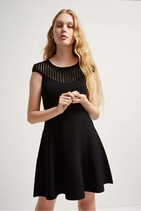 Picture of French Connection Rose Crepe Fit and Flare Dress