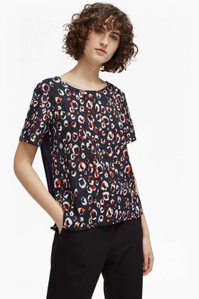 Picture of French Connection Chira Crepe Light Round Neck Top