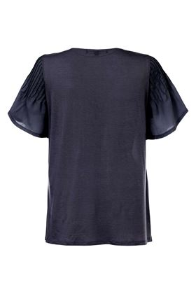Picture of French Connection Classic Crepe Fluted Sleeve Top