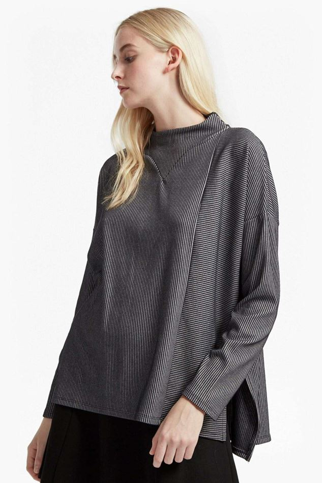 Picture of French Connection Sario Ribbed Jersey High Neck Top