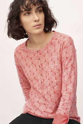 Picture of White Stuff Henley Jersey Print Shirt