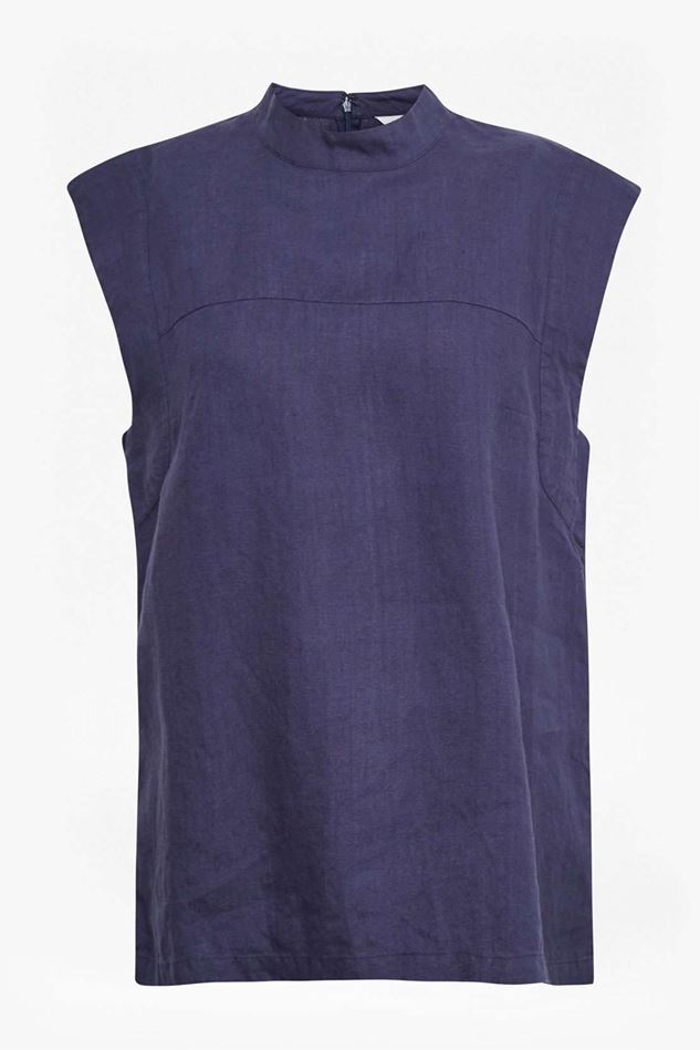 Picture of Great Plains Alana Linen Polo Neck Top