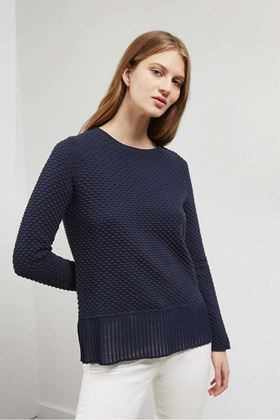 Picture of Great Plains Kimara Cotton Pleated Hem Jumper
