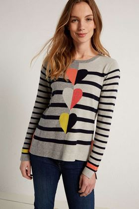 Picture of White Stuff Trio Heart Jumper