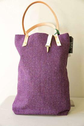 Picture of Harris Tweed purple Tote Bag