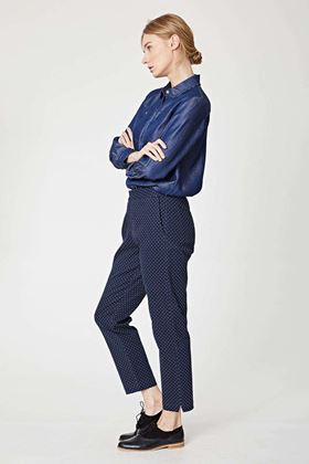 Picture of Thought Sheng  Polka Dot Slim Trouser