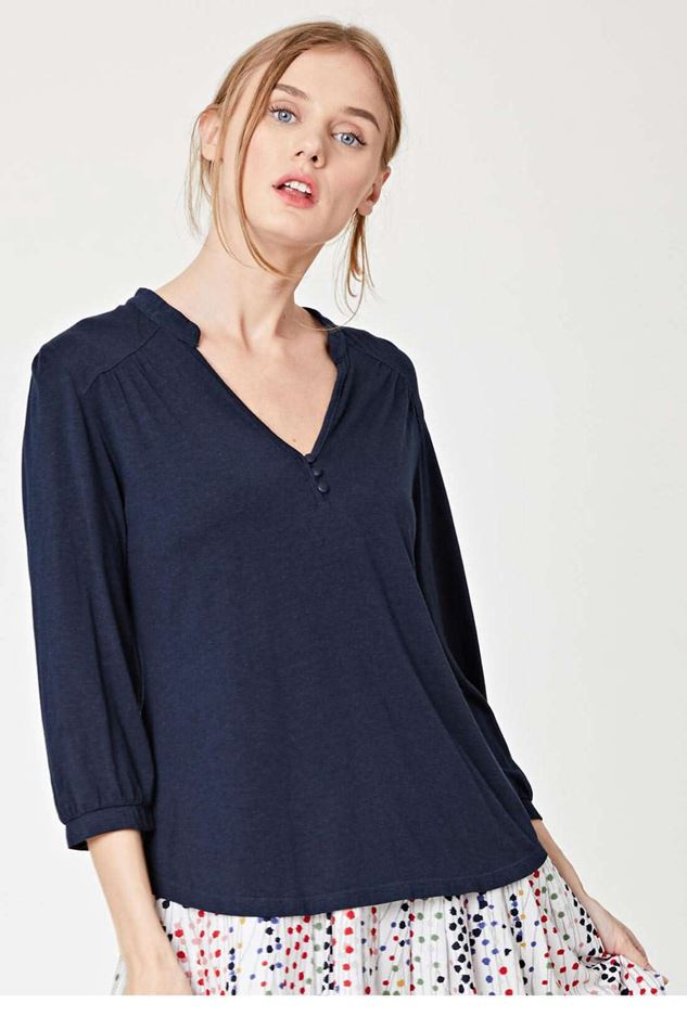 Picture of Thought Bly Bamboo Jersey Button Blouse