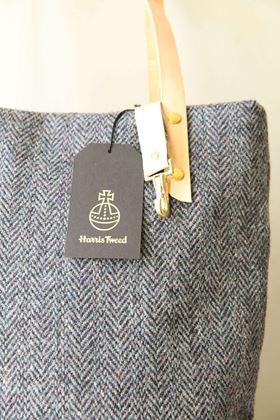Picture of Harris Tweed Grey Tote Bag