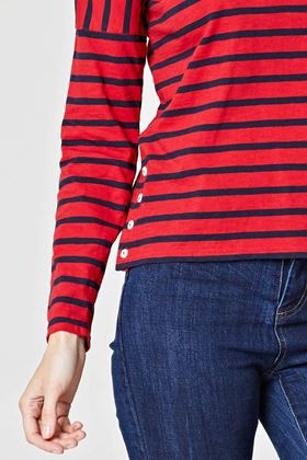 Picture of Thought  Campbell Stripy Tee
