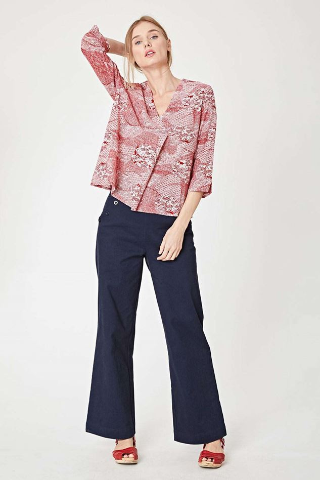 Picture of Thought Manami Print Wrap Top