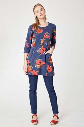 Picture of Chusho Floral Print Jersey Dress