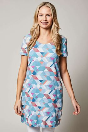 Picture of Lily & Me Linen Shift Geo Dress