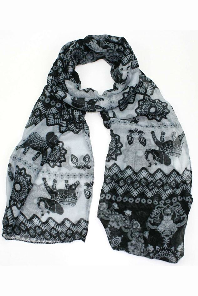 Picture of Poppy Elephant Print Scarf