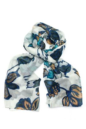 Picture of Poppy Floral and Leaf Print Scarf