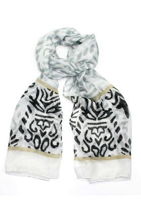 Picture of Poppy Ornate Print Scarf