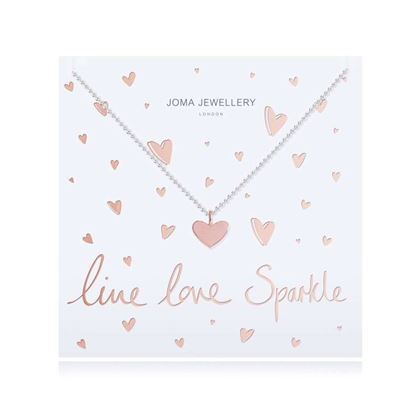 Picture of Joma Jewellery Live Love Sparkle Heart Pendant