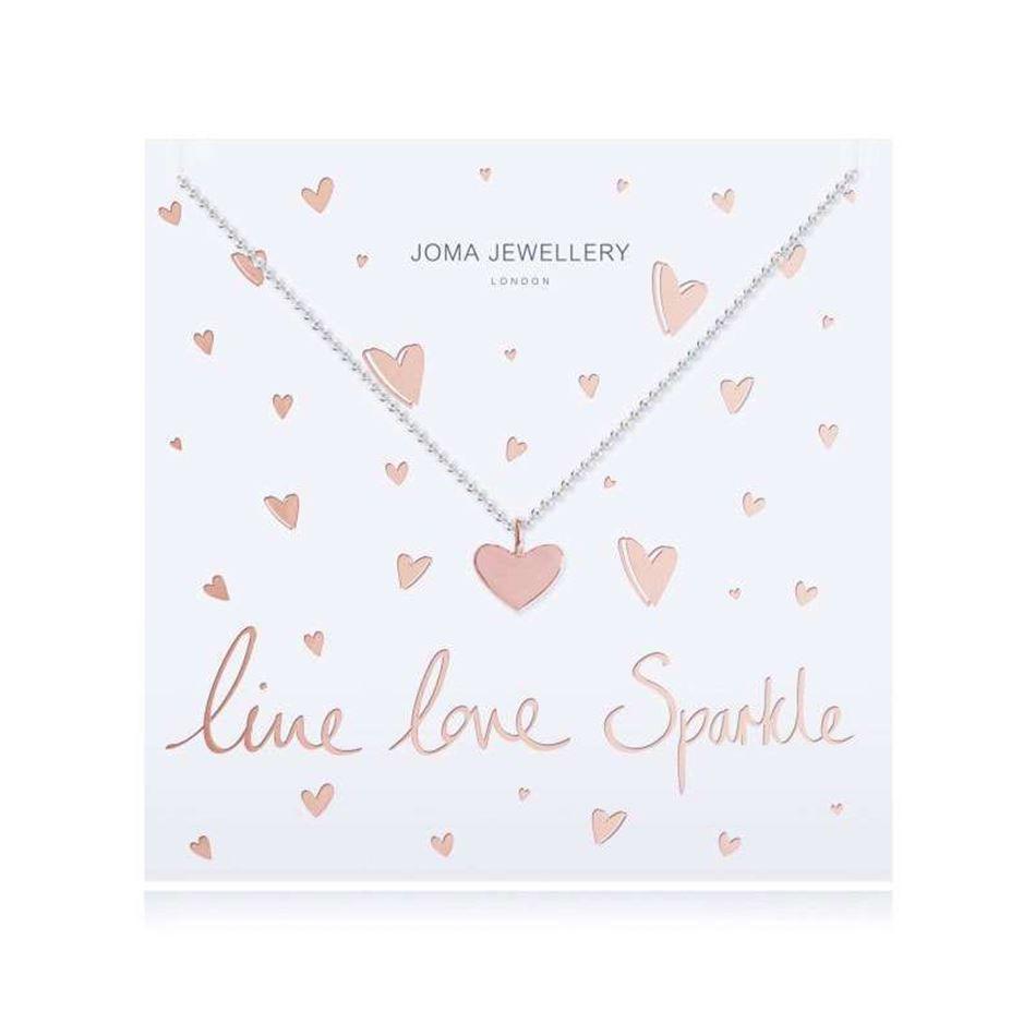 Picture of Joma Jewellery Live Love Sparkle Heart Pendant