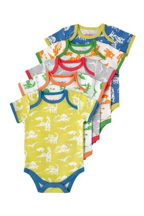 Picture of Cath Kidston Mono Dino Baby 5 Pack Bodysuit