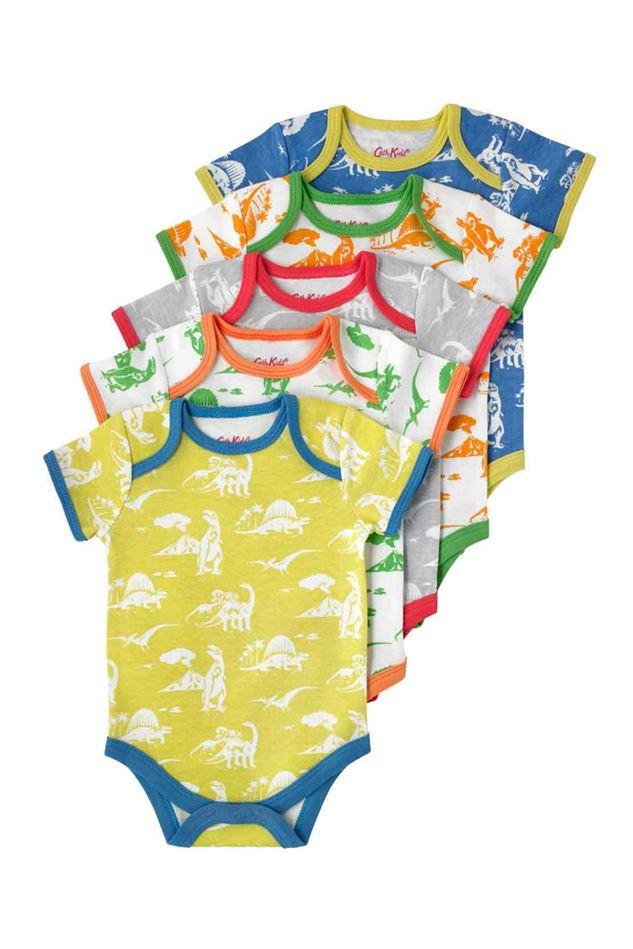 Picture of Cath Kidston Mono Dino Baby 5 Pack Bodysuit