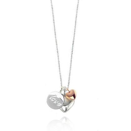 Picture of Joma Jewellery Three Love Charm long facetted necklace