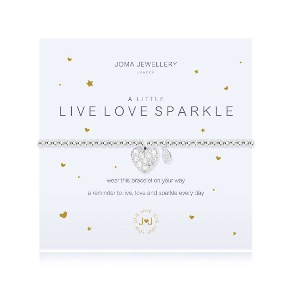 Picture of Joma Jewellery a little Live Love Sparkle silver bracelet